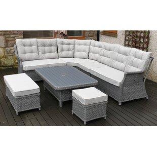 Sales Lonan 5 Seater Rattan Corner Sofa Set
