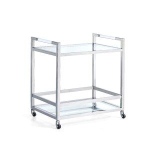 Zampa Acrylic Server Bar Cart by Orren Ellis