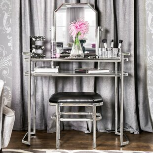 Alcott Hill Shorewood Vanity Set with Mirror