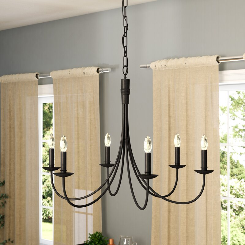 Souders 6 light candle style chandelier reviews birch lane souders 6 light candle style chandelier audiocablefo