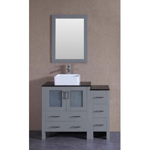 Vienna 42 Single Bathroom Vanity Set with Mirror by Bosconi