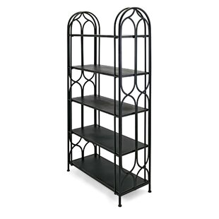 Sumas Spacious Geometric Metal Etagere Bookcase