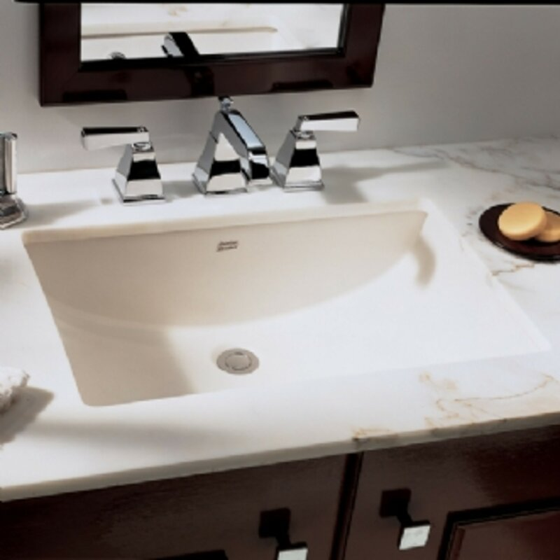 American Standard Studio Ceramic Rectangular Undermount Bathroom - American standard undermount bathroom sinks