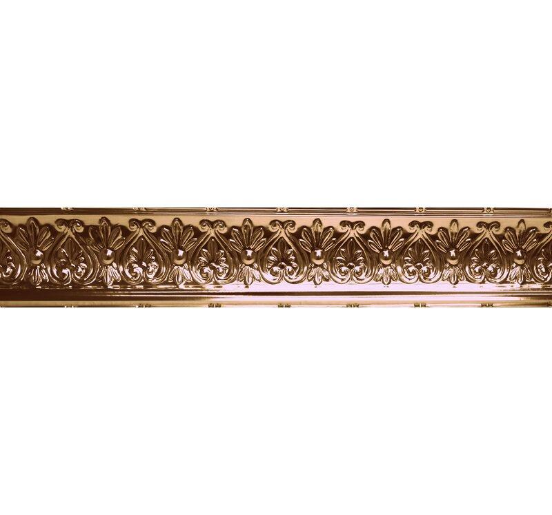 Shanko 48 X 6 25 Metal Cornice Tile In Copper Wayfair