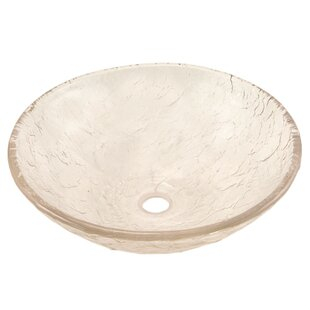 Glass Circular Vessel Bathroom Sink ByJSG Oceana