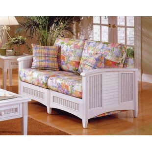 Crossroad Loveseat with Cushions by South Sea Rattan