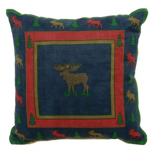 Malta Wandering Moose Cotton Throw Pillow