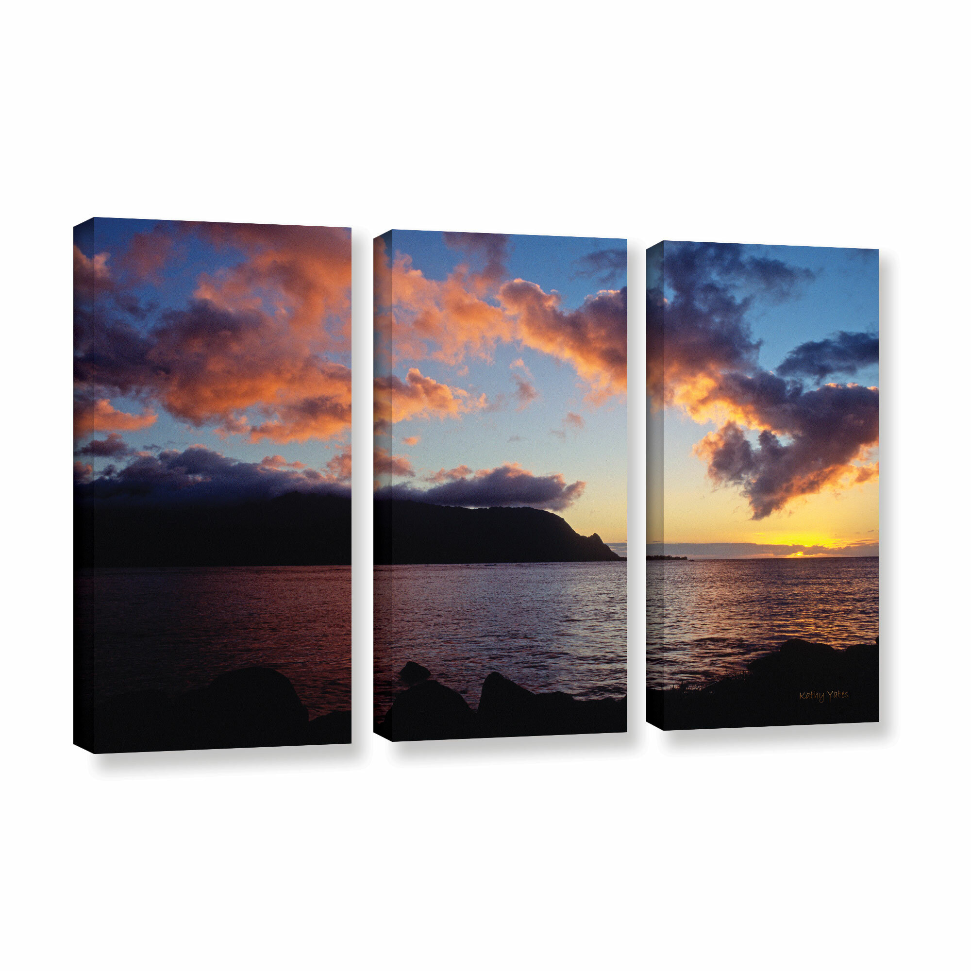 Artwall Kathy Yates Field Of Dreams 3 Piece Floater Framed Canvas Artwork 24 By 36 Posters Prints Home Kitchen