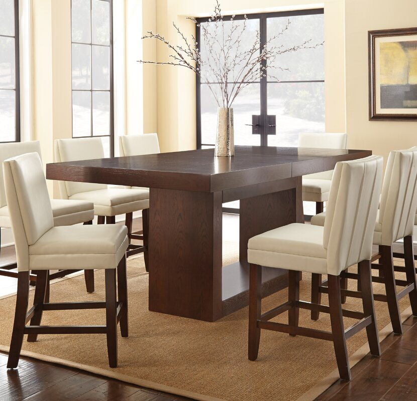 Brayden Studio Maust Counter Height Dining Table & Reviews | Wayfair