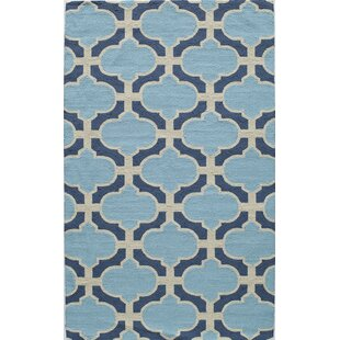 Hand-Tufted Blue Indoor/Outdoor Area Rug