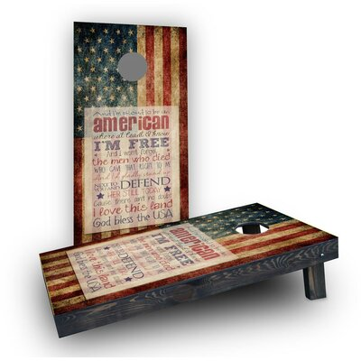 Proud To Be An American Cornhole Boards (Set Of 2)
