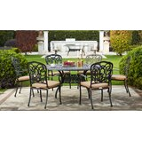 Battista Traditional 7 Piece Dining Set with Cushions