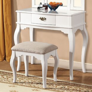 A&J Homes Studio Maren White Vanity Set