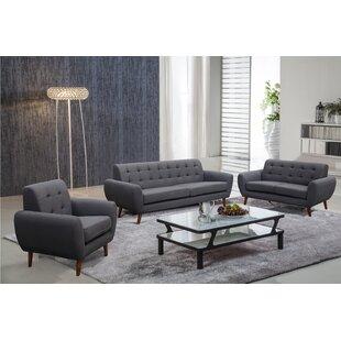 Ivy Bronx Philip 3 Piece Living Room Set