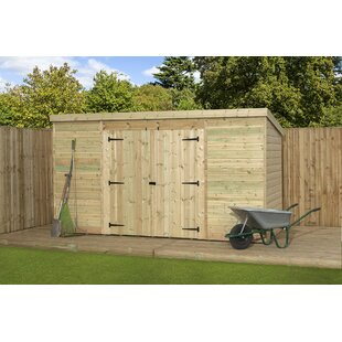 Bainville 14 Ft. W X 4 Ft. D Shiplap Pent Wooden Shed By Union Rustic