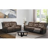 Slayton 2 Piece Leather Reclining Living Room Set by Red Barrel Studio®