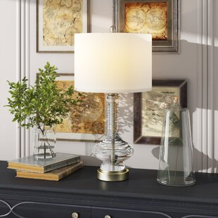 Elkland Clear Glass 27 Table Lamp