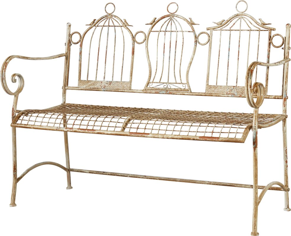 one allium way 2 sitzer gartenbank 3 birdcages aus metall. Black Bedroom Furniture Sets. Home Design Ideas