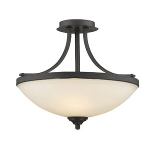 Fleur De Lis Living Beegle 3-Light Semi Flush Mount