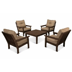 Vineyard 5 Piece Sunbrella Conversation Set with Cushion
