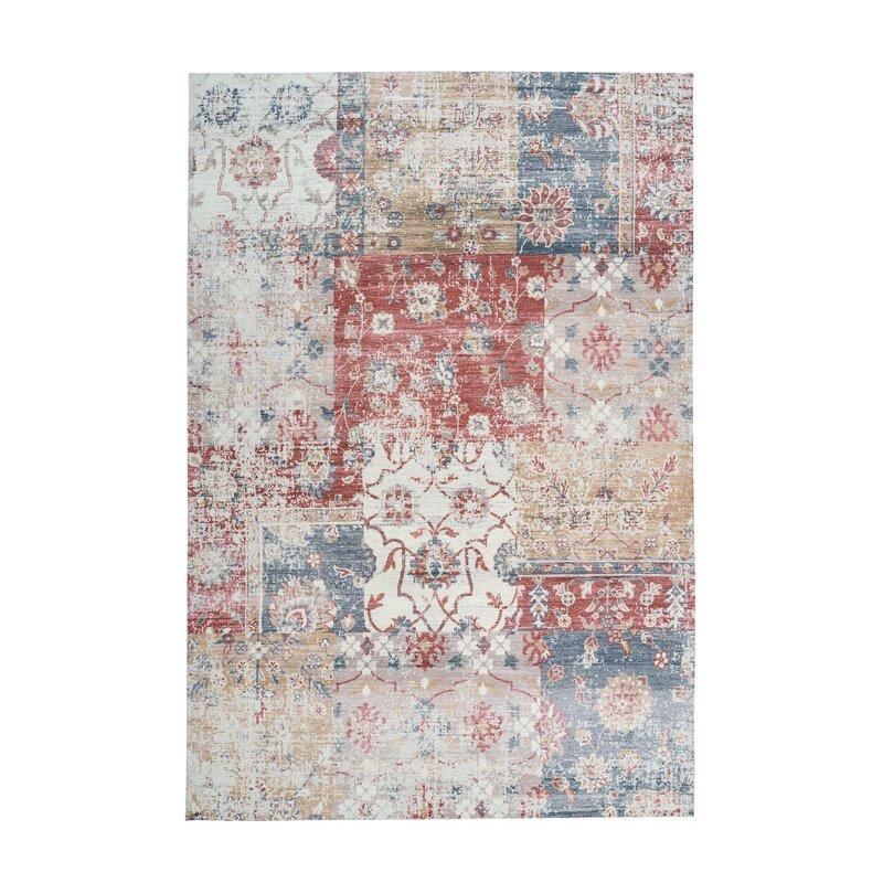 Woven Cotton Blue Rug Wayfair Co Uk