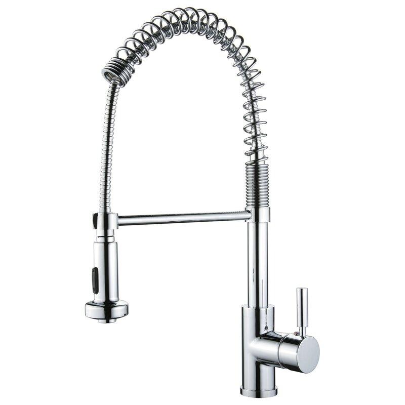 Y Decor Pull Out Single Handle Kitchen Faucet & Reviews | Wayfair