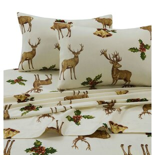 Holiday Reindeer 100% Cotton Sheet Set