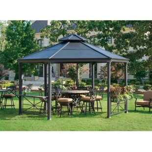 Circlet 12 Ft. W x 14 Ft. D Metal Gazebo by Sunjoy