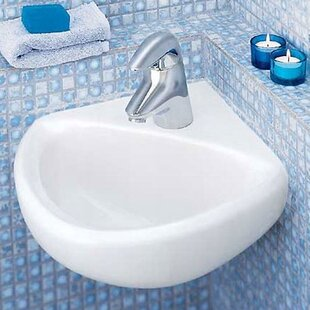 American Standard Comrade Minette Ceramic Specialty Wall-Mount Bathroom Sink with Overflow