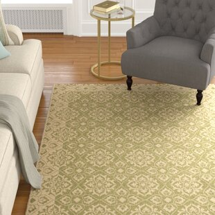 Lynn Green/Creme Indoor/Outdoor Area Rug