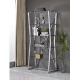 Louisa 69.88'' H x 31'' W Steel Etagere Bookcase by Everly Quinn