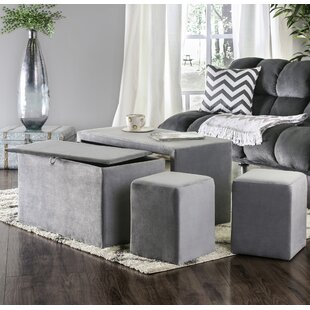 Yogyakarta 4 Piece Upholstered Storage Bench Set