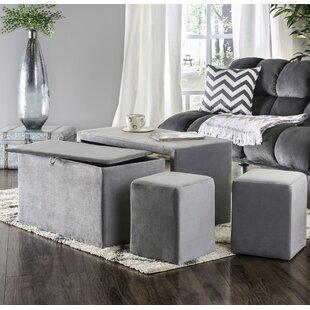Yogyakarta 4 Piece Upholstered Storage Bench Set