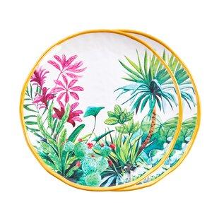 Fairway 2 Piece Melamine Dinner Plate Set By Bay Isle Home