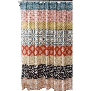 orange and teal shower curtain. Vincent Stripe Shower Curtain Burnt Orange  Wayfair