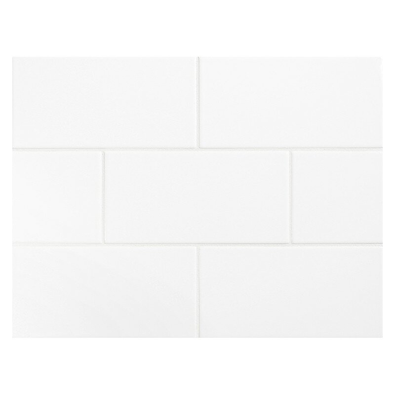 Value Series 3 X 6 Ceramic Subway Tile In Bright Glossy White