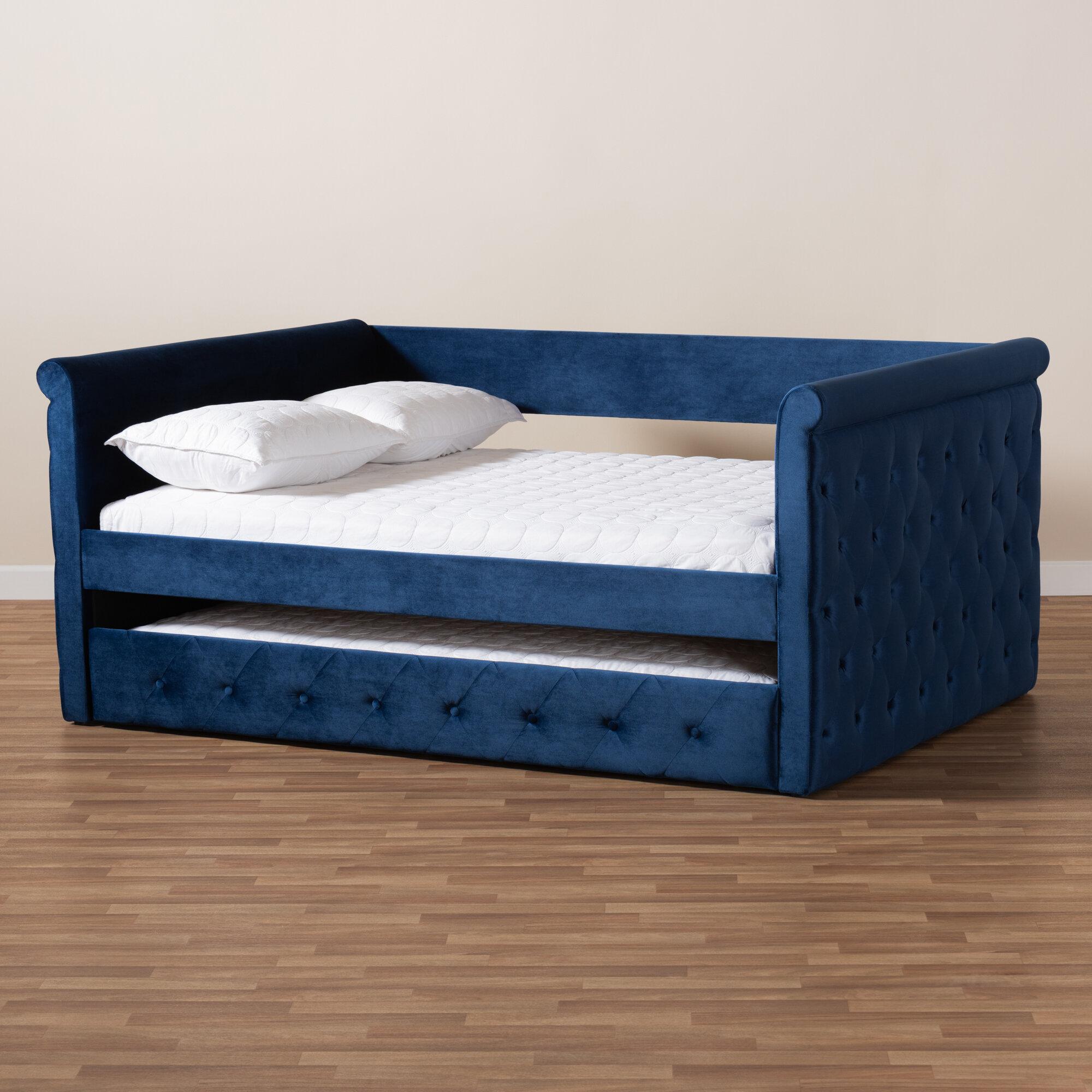 - Rosdorf Park Cornell Modern And Contemporary Velvet Upholstered