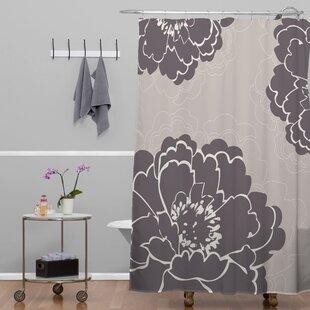 Agostini Winter Peony Shower Curtain