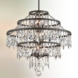 One Allium Way Ailbe 9-Light Crystal Chandelier