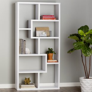 Chrysanthos Geometric Bookcase by Mercury Row