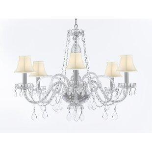 House of Hampton Keltner Venetian Style 6-Light Shaded Chandelier