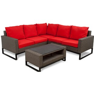 Bawden 8 Piece Rattan Complete Patio Set with Cushions
