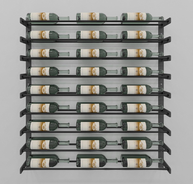 Idora 27 Bottle Wall Mounted Wine Bottle Rack Reviews Birch Lane