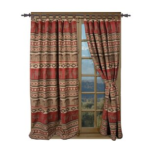 Lamoureux Bear And Moose Cabin Single Curtain Panel