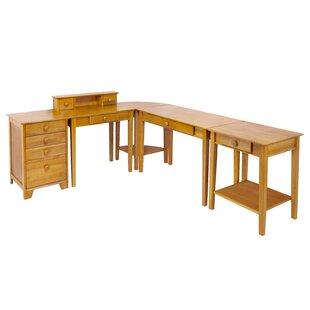 Winsome Studio Home 5 Piece L-Shape Desk Office Suite