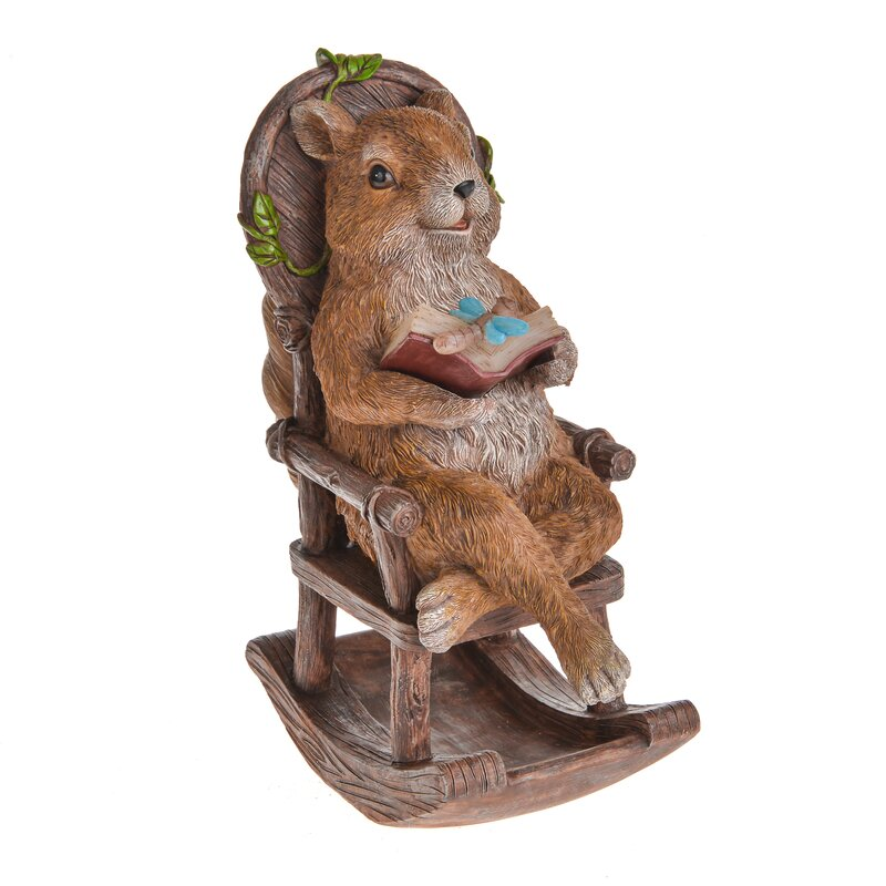 Country Living Garden Gnome with Squirrel