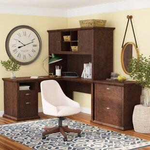 Three Posts Ferrell 3 Piece L-Shape Desk Office Suite