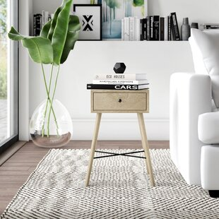 Elida End Table with Storage by Mercury Row