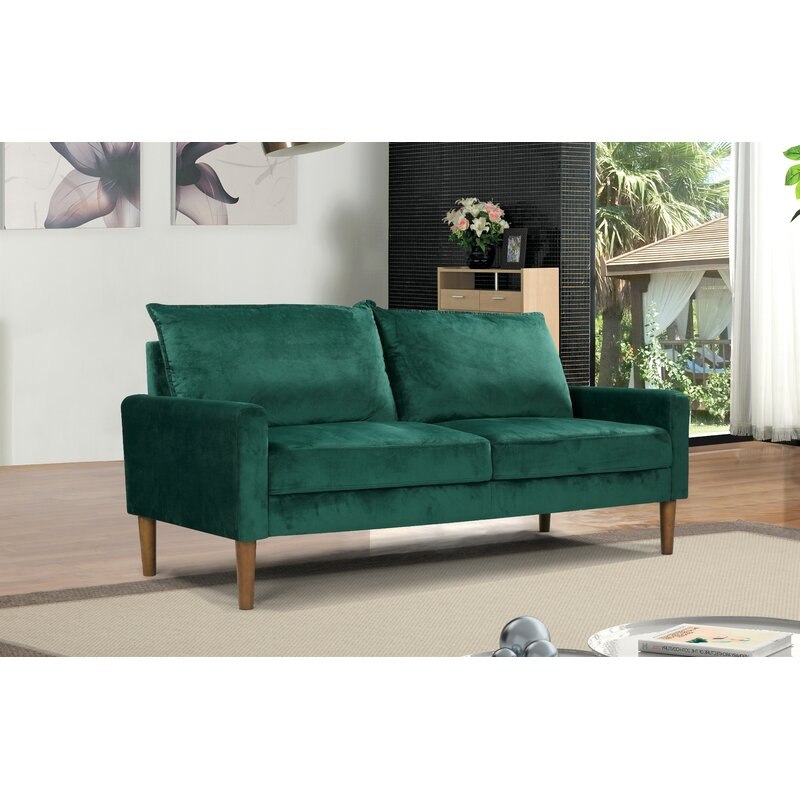 Velvet Chesterfield 70 Rolled Arm Sofa