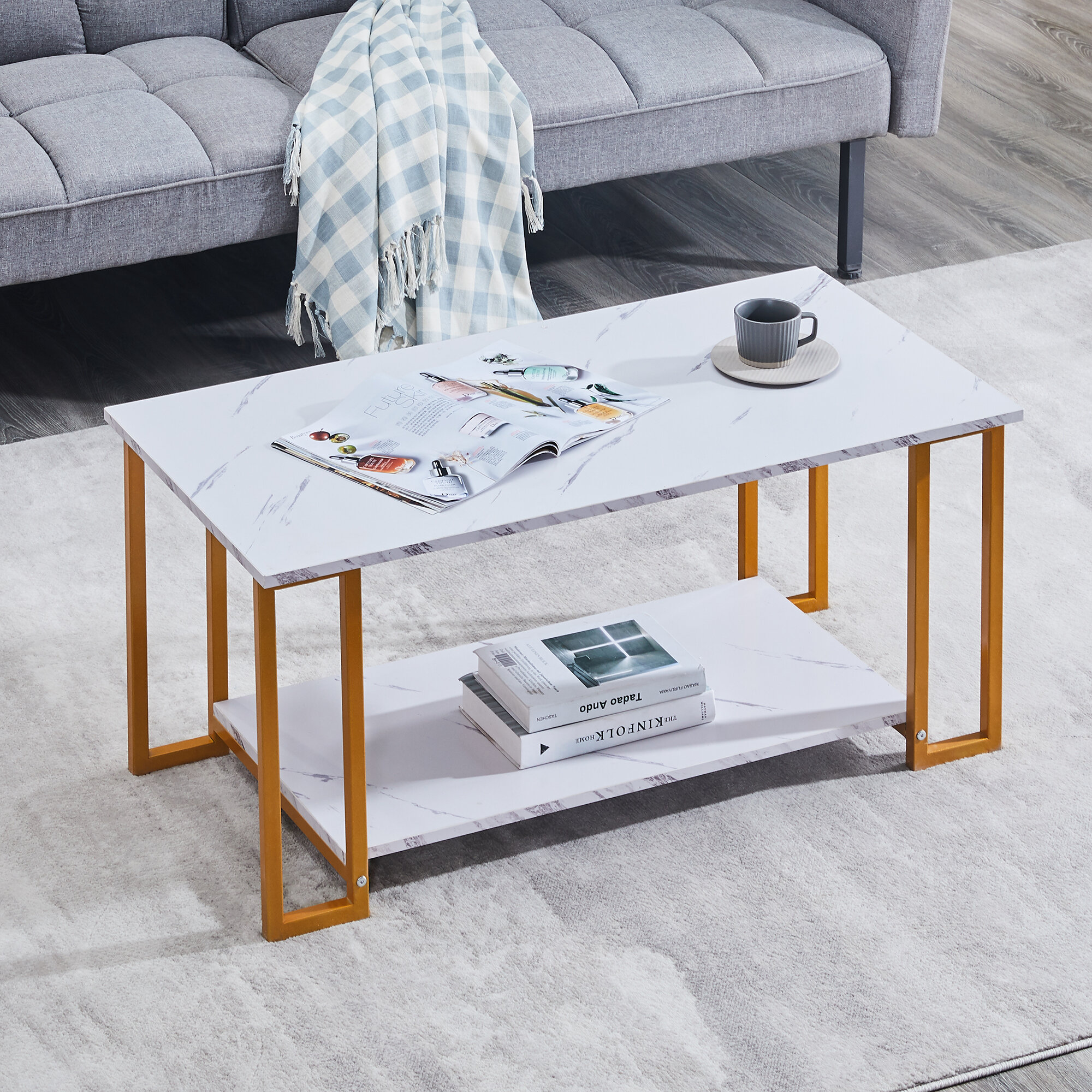 Everly Quinn Antonito Coffee Table With Storage Wayfair